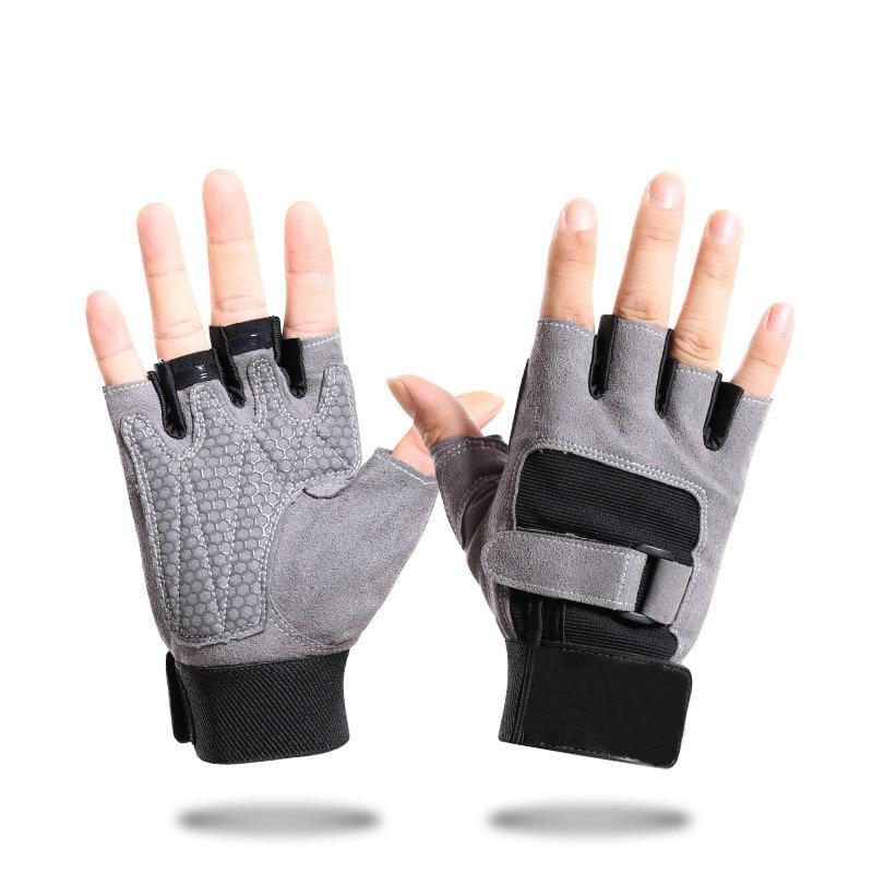 Cycling gloves half finger men's spring and summer non slip shock absorbing mesh breathable gloves