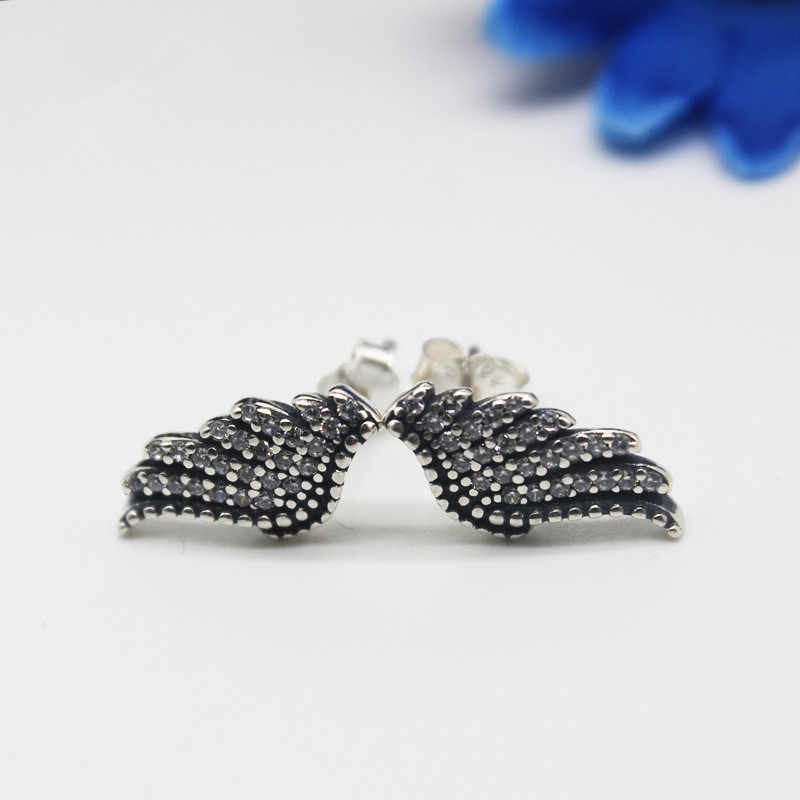 979523f98 ... Hot Sale 925 Sterling Silver Majestic Feathers Pandora Stud Earrings  For Women Authentic Original Brand Fine ...