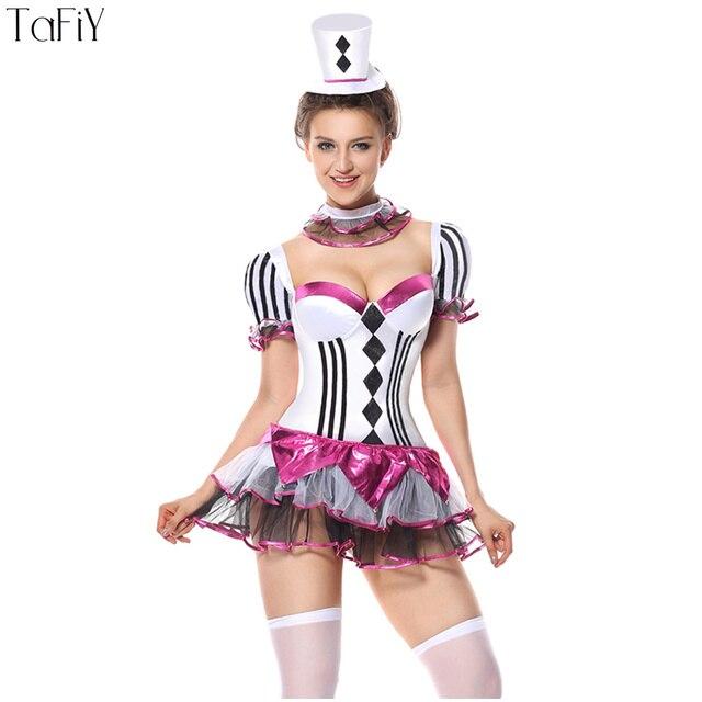Tafiy Adult Women Mardi Gras Jester Costume Party Wear Cosplay