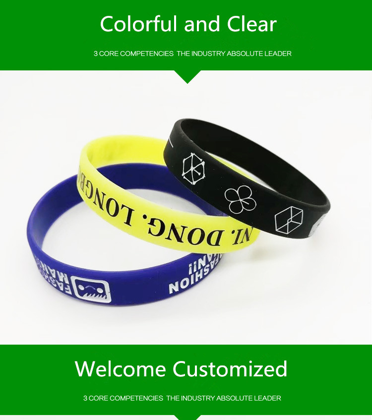 Welcome Customize Silicone Bracelet Your Own Design or Business Logo Wristband Bracelet Create Fashion Jewelry Women
