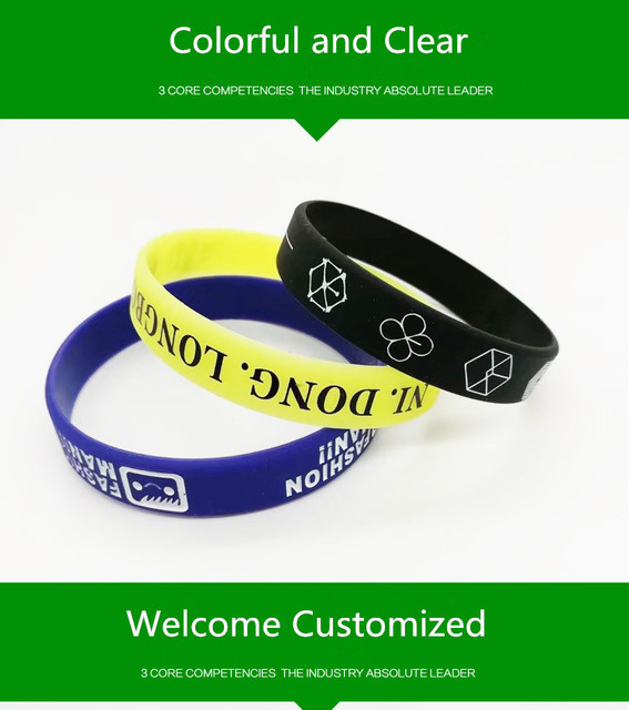 Welcome Customize Silicone Bracelet Your Own Design Or Business Logo Wristband Create Fashion Jewelry Women Men