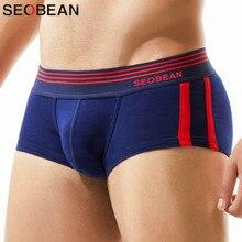 Caleçons en coton Sexy, Boxer, culottes pour hommes, taille basse, Boxer sous vêtements pour homme, 3 pièces/lot