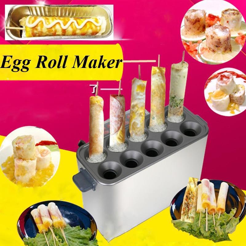 Commercial Gas Egg Roll Machine Egg Roll Maker Hot Dog Vending Machine Hot Dog Maker Omelet Maker Egg Roll Toaster made in china commercial egg sausage machine electric home use egg hot dog omelet waffle machine