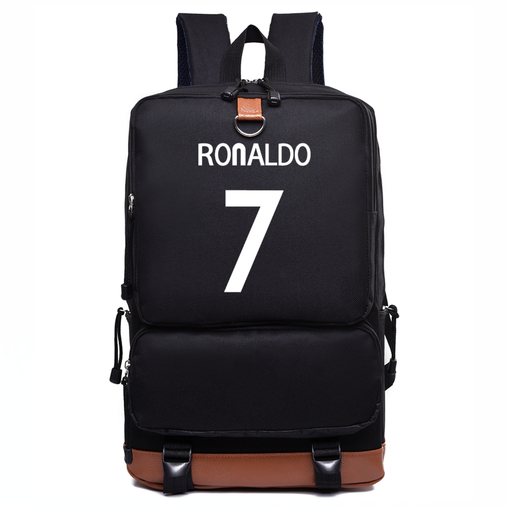 Cristiano Ronaldo Canvas Backpack CR7 School Bags For Teenagers Boy Girl Casual Daily RuckSack For Student Men Women Laptop Bag 14 15 15 6 inch flax linen laptop notebook backpack bags case school backpack for travel shopping climbing men women