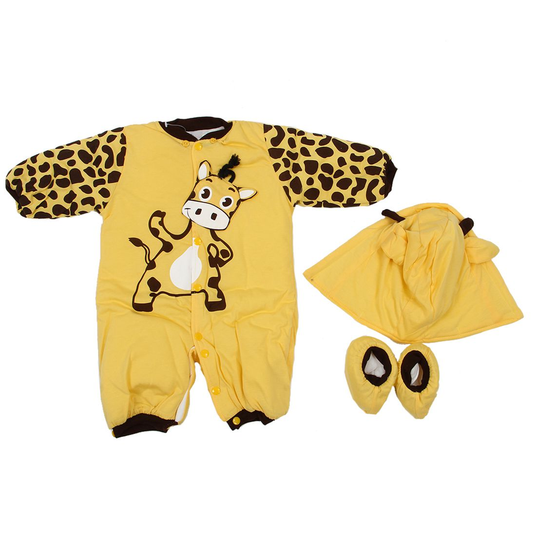 ABWE Best Sale new Autumn Winter Clothing sets Cartoon Animal Style Cotton-padded Baby boys Rompers Cows Warm Kids girls badys