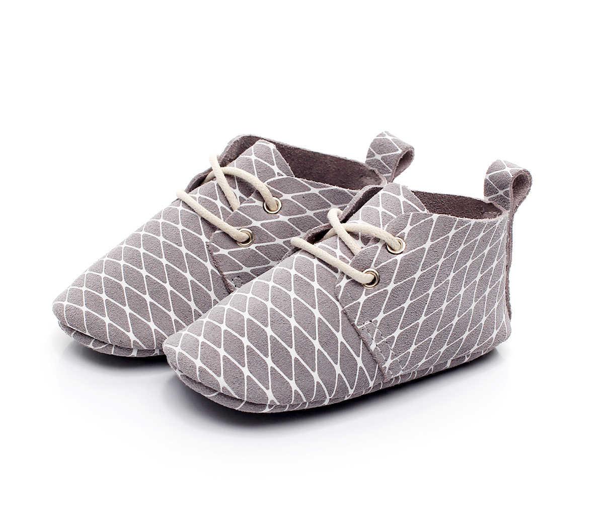 חדש נמר עור אמיתי שרוכים בנות בייבי בוי Prewalkers ספורט סניקרס עריסה ילדים מותק רך סוליות נעליים