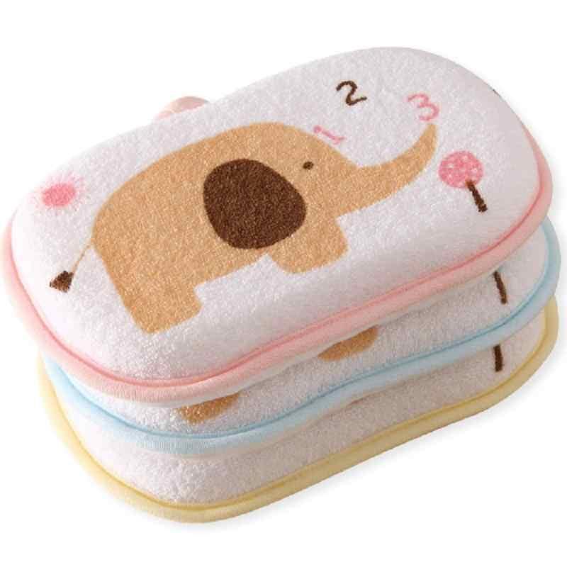 1 piezas lindo bebé recién nacido ducha algodón frotar el cuerpo lavar la toalla accesorios baño esponja frotar los cepillos de baño para niños