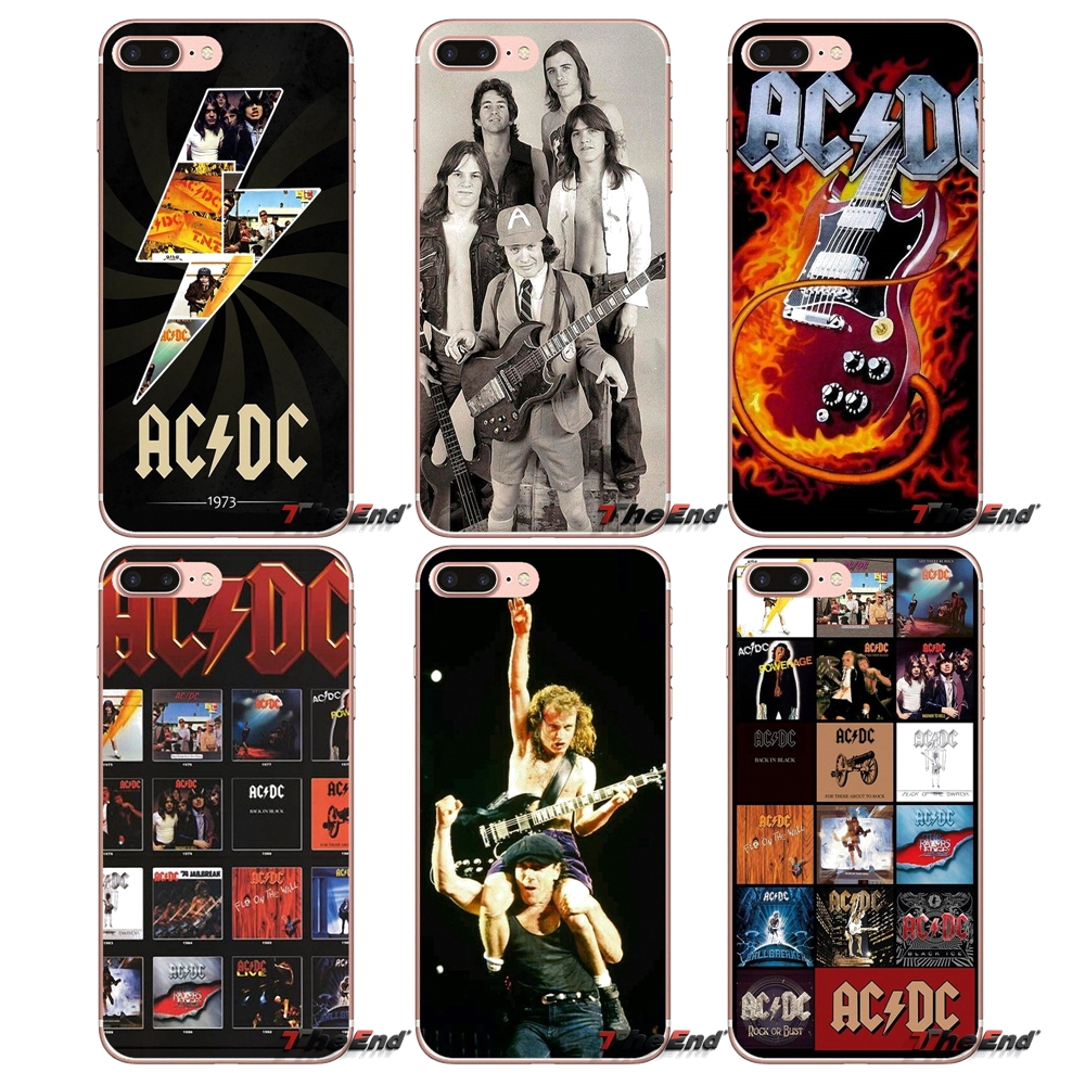 Accessories Bag Case Music Band ACDC AC DC For iPhone X 4 4S 5 5S 5C SE 6 6S 7 8 Plus Samsung Galaxy J1 J3 J5 J7 A3 A5 2016 2017