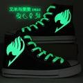 Nuevas mujeres/hombres ocasionales high-top zapatos de lona estudiante diario de Dibujos Animados Anime Fairy Tail Cosplay Shoes tamaño 35-43