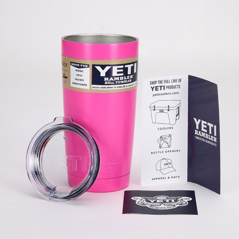 Power Coated 20OZ <font><b>YETI</b></font> <font><b>Rambler</b></font> Tumbler <font><b>Stainless</b></font> <font><b>Steel</b></font> <font><b>YETI</b></font> <font><b>Cooler</b></font> Vacuum Insulated Vehicle Coffee Beer Mug <font><b>Cups</b></font> Free Shipping