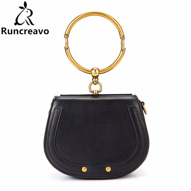 e1eb9d7523f US $80.25 |Runcreavo 2018 New Spring Women Handbags Fashion Designer Small  Women Bag Saddle Shoulder Bags Girls Crossbody Bag-in Shoulder Bags from ...