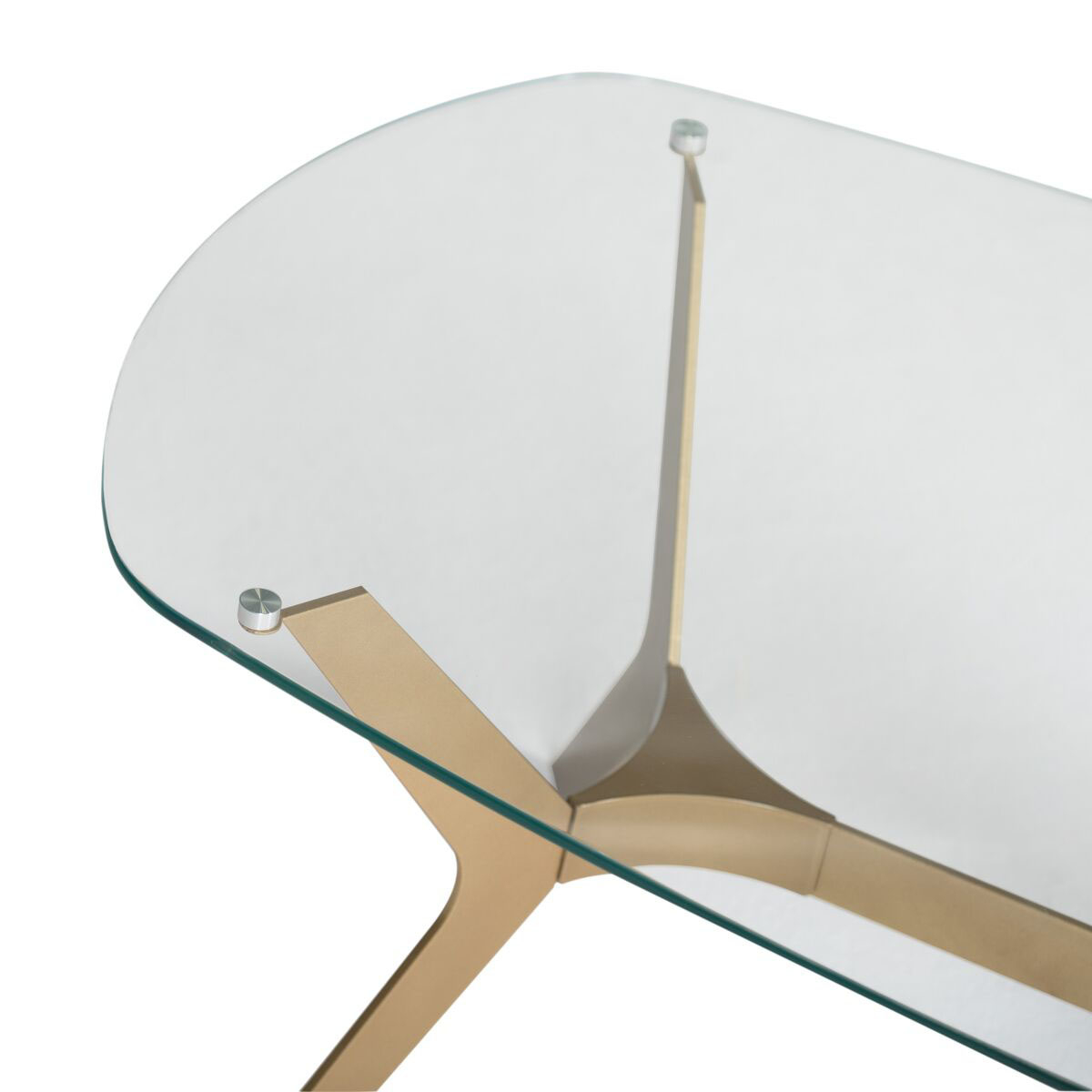 Studio Designs Archtech Modern Coffee Table 52 In Gold Clear Glass Coffee Tables Aliexpress