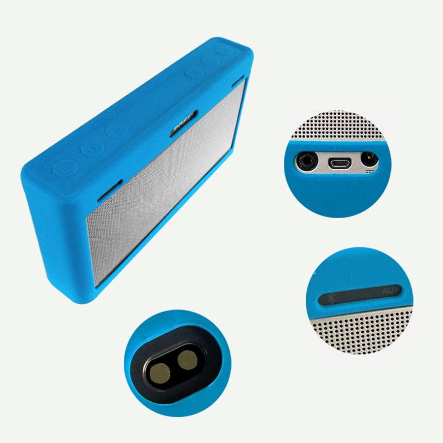 Silicone Soft Protective Cover for Bose SoundLink III Speaker Portable Travel Carry Bag Case for Bose SoundLink 3 Speaker