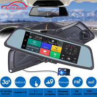 7Inch Touch Car Android DVR Rearview Mirror Camera Parking Recorder GPS Navigation WiFi Car DVR Video