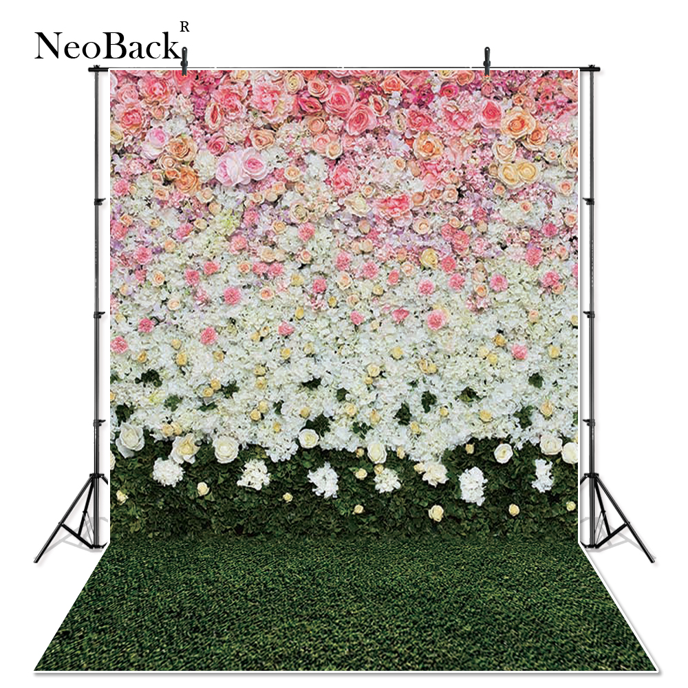 NeoBack 3x5ft 5x5ft thin vinyl Newborn Baby Photography Backdrop fantasy floral Customs Photo Studio backgrounds Prop P2657 baby cook costume photo photography prop white newborn hat aprons
