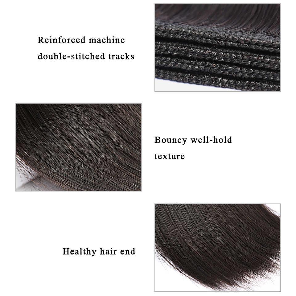 BAISI Menschliches Haar 10A Peruanische Reine Haarwebart Bündel 100% Unverarbeitete Peruanische Gerade Haar Extensions