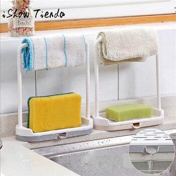 Plastikowy stojak na mydło lub gąbkę