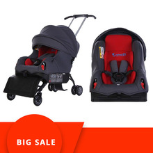 5 In 1 Child Car Safety Seat Baby Car Booster Seat 0-4 Years Old Sleepable Trolley Sit on Stroll Baby Car Seat Stroller недорого