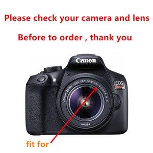 Image 2 - 58mm UV filtre Lens Hood + Lens kapağı + temizleme kalemi Canon EOS 90D 1500D 2000D 3000D 4000D Rebel T7 T100 18 55mm lens ile