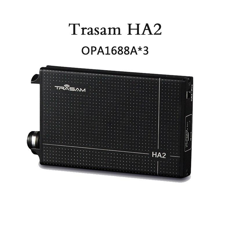 2017 Trasam HA2 OPA1688*3 Extreme Version HIFI AMP Discrete Class A Portable Earphone HIFI Amplifier Headphone Power Amplifier gustard h10 high current discrete class a hifi stereo headphone amplifier