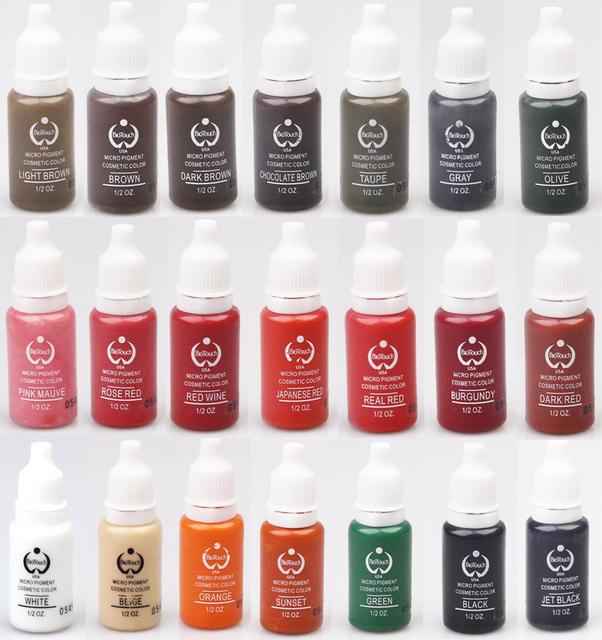 Pigmento da tinta de tatuagem Permanente Maquiagem sobrancelha Pigmento Marrom Café Microblading microblading tinta máquina de tatuagem pigmento 15 ml 1 pcs