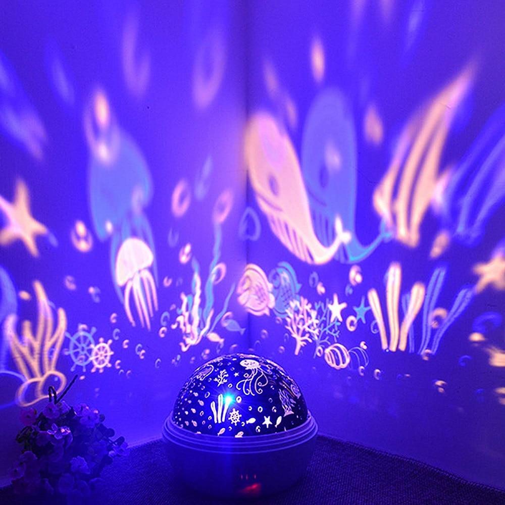 Night Light Luminaria Ocean Lamp