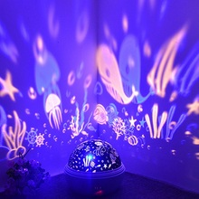 8 Colors Rotating Star Projector Night Light Luminaria Ocean Lamp Baby Night Sleeping Nursery Lamp For Baby Kids Christmas Gift