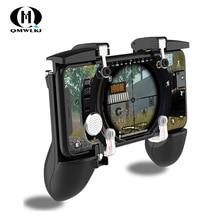 Sześciopalczaste połączenie PUBG mobilny kontroler go gier gamepad przycisk spustowy przycisk celowania L1 R1 Shooter Joystick dla iphone Android