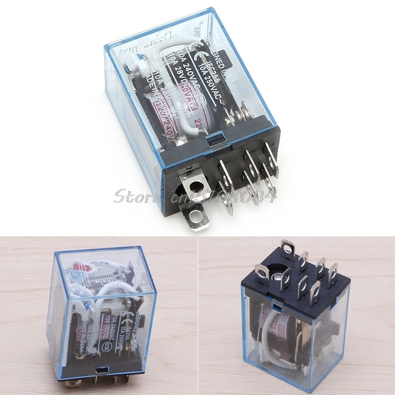 LY2NJ AC 220V Coil 10A 240V Power Relay DPDT Led Lamp 1Pc #S018Y# High Quality цена и фото