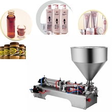 Single Head with Hopper  Semi Automatic Liquid filling machine Pneumatic Cream Paste  Shampoo  Pasty Filling machine