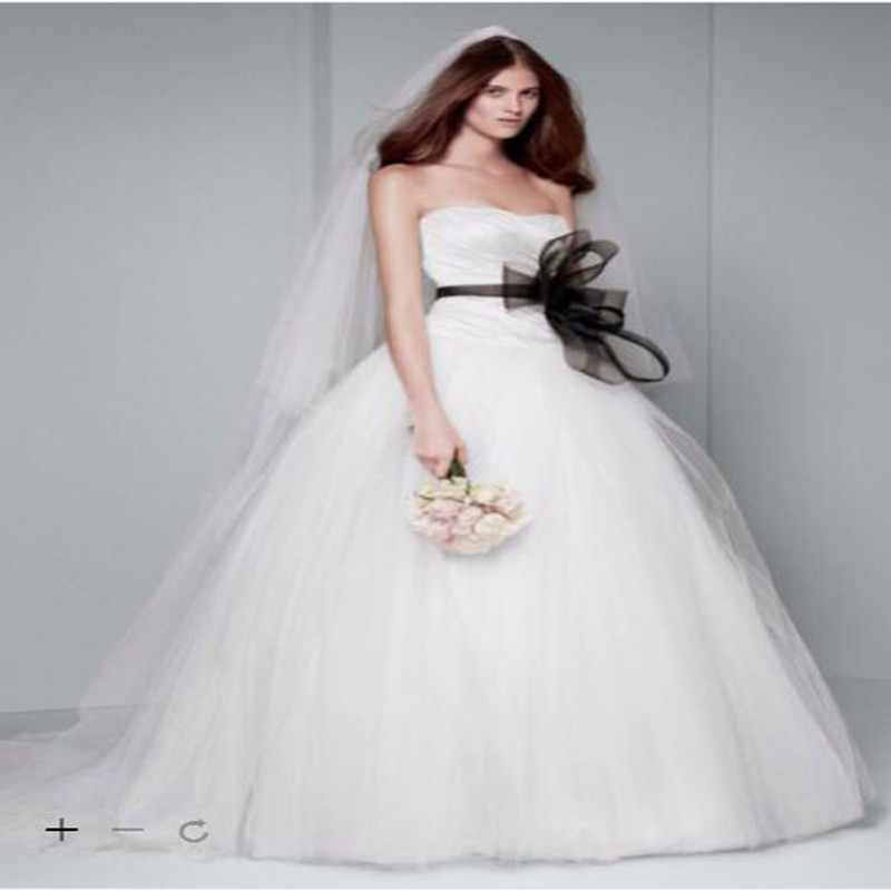 Full Ball Gown Wedding Dresses: 2016 Taffeta Ball Gown Wedding Dresses Strapless With
