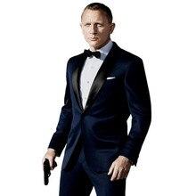 Costume Homme Terno Masculino Smoking Slim Fit Uomo Abiti Ultimo Disegno di Abiti Da Sposa per Gli Uomini 3 pezzi (Giacca + pant + Tie)