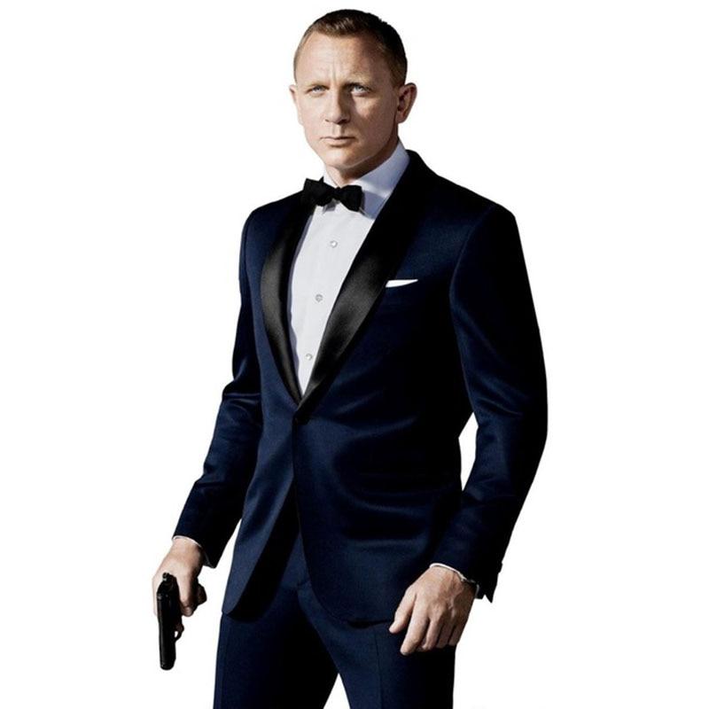 Kostium Homme Terno Masculino tuxedo Slim Fit garnitury męskie najnowsza konstrukcja garnitury ślubne dla mężczyzn 3 sztuk (kurtka + spodnie + krawat) w Garnitury od Odzież męska na  Grupa 1