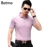 Batmo 2017 New Arrival High Quality Cotton 100 Fashion Men Men S Polos Shirt Size M