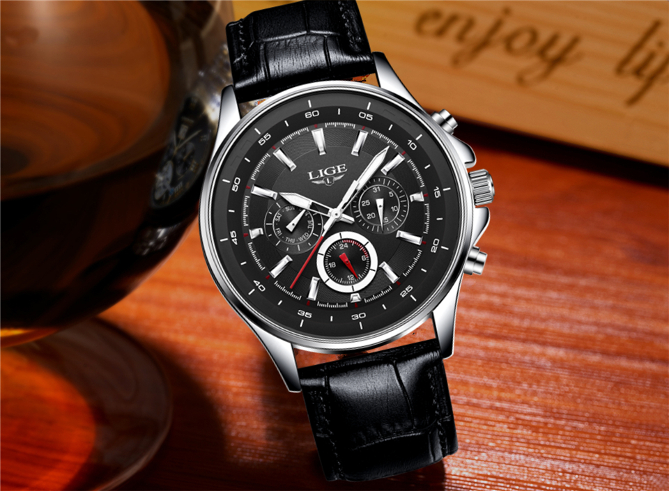 LIGE Mens Watches Waterproof Top Brand Luxury Quartz Watch Men Sport Watch Fashion Casual Military Clock Male Relogio Masculino 26