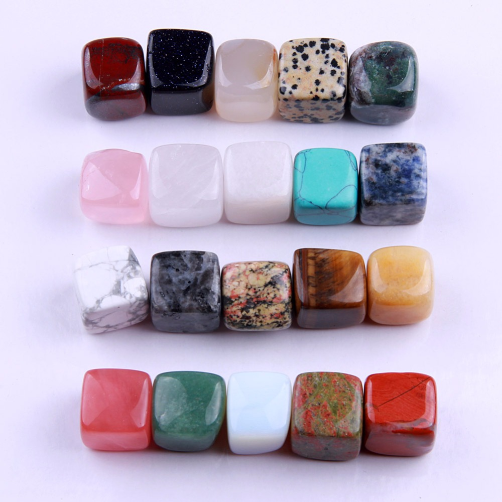 20 шт./компл. природные кристаллы полированная Исцеление Чакра Упали Камни Collection Mi ...