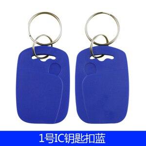 Image 1 - 100 Pz/lotto 13.56 MHZ RFID IC Scheda Token Tag Keyfobs Chiave per il Controllo di Accesso Ingresso Mechine
