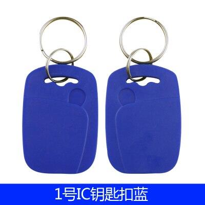 100 Pz/lotto 13.56 MHZ RFID IC Scheda Token Tag Keyfobs Chiave per il Controllo di Accesso Ingresso Mechine