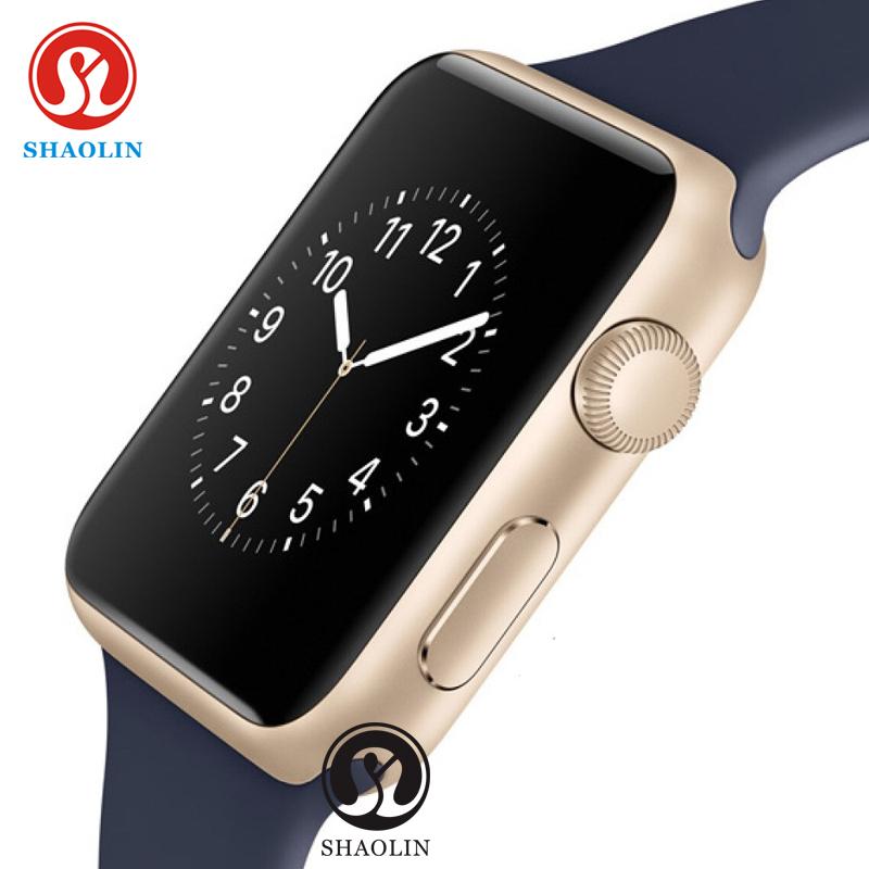 Prix pour SHAOLIN Bluetooth Smart Watch Moniteur de Fréquence Cardiaque Smartwatch Dispositifs Portables pour iPhone IOS et Android Smartphones apple watch