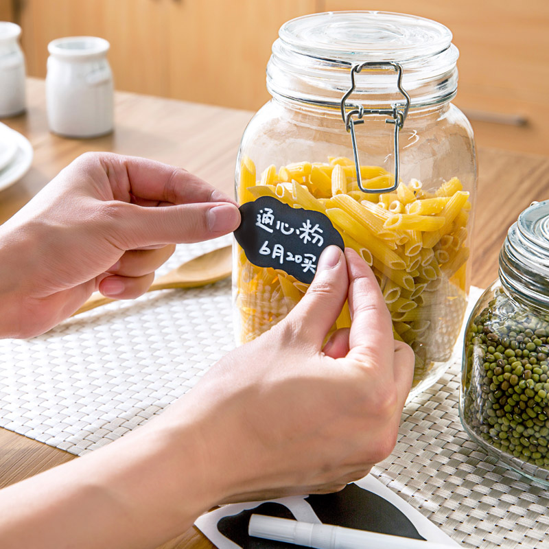 Waterproof Mason Jar Labels Stickers Repeat Handwriting Kitchen Blackboard Easy To Identify And Record In Storage Bottles Jars From Home Garden