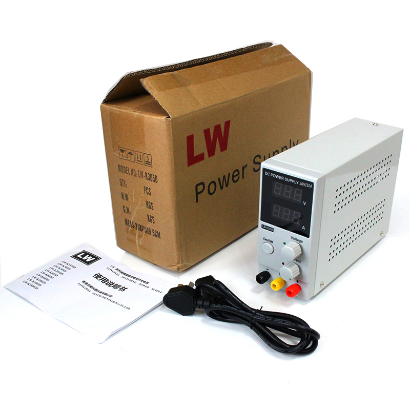 LW-K602D Adjustable DC power supply 0~30V 0~10A ,110V/220V, Switching Power supply Voltage Regulators original lw mini adjustable digital dc power supply 0 30v 0 10a 110v 220v switching power supply 0 01v 0 01a 34 pcs dc jack