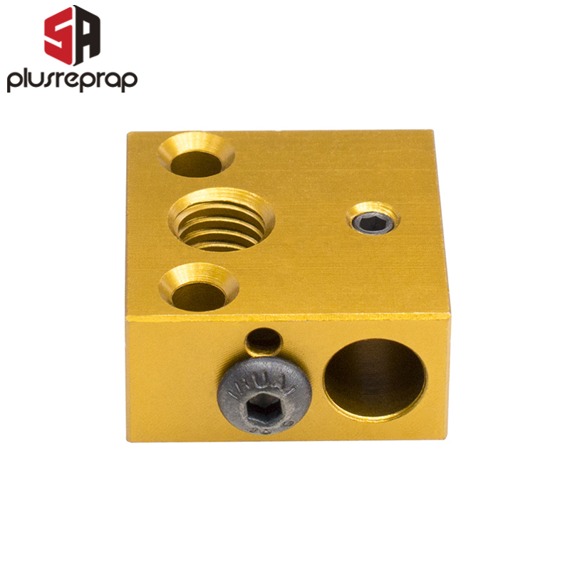 3D Printer CR8 CR10 Printer Head Extrusion Aluminum Heated Block for MK8 Nozzle