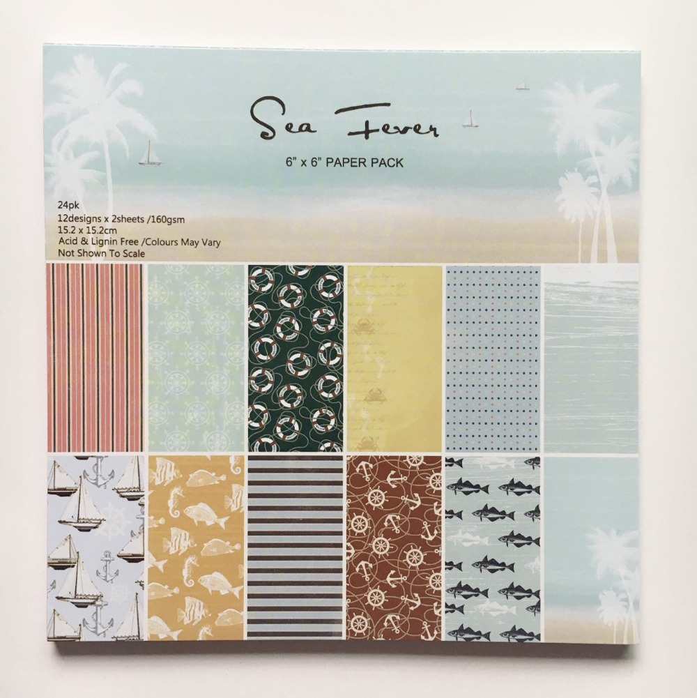 Scrapbook paper cheap - New Style 6 Isea Fever Theme Patterns 24sheets Background Paper Pads Photo Album Card Making Diy Scrapbooking Paper Pack