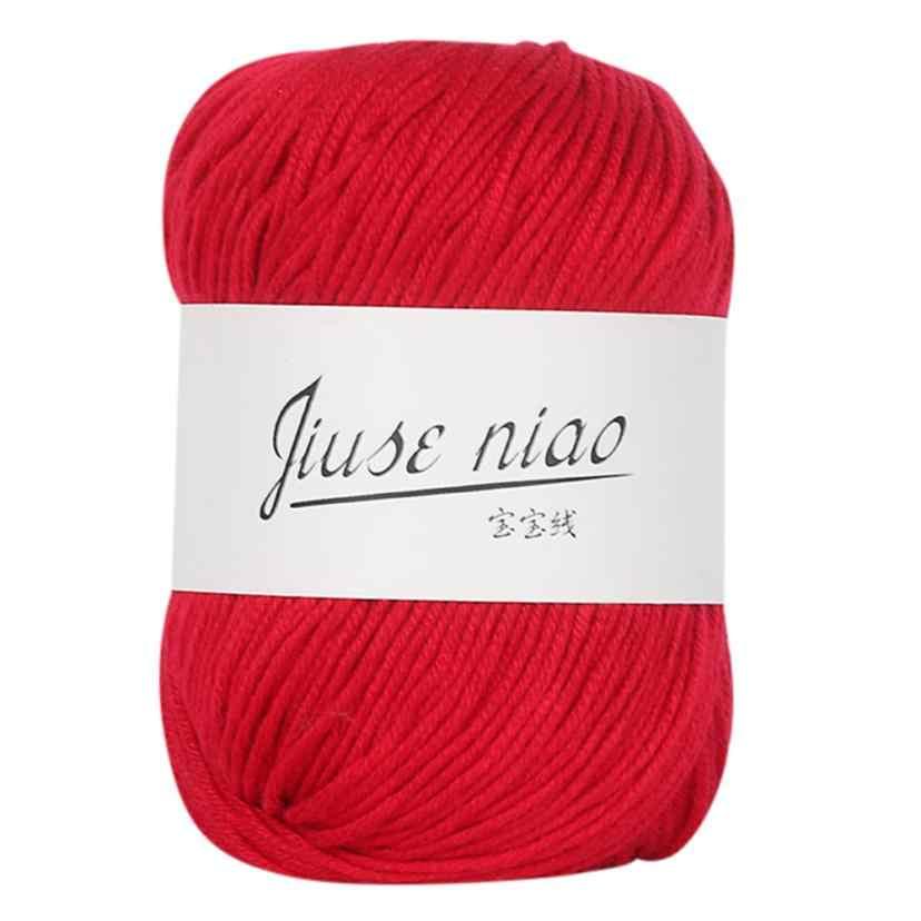 Cobertor colorido de malha de mão de 1 peça, 50g, robusto, de algodão, leite, de crochê, malha de lã, cobertor, de crochê fio com fio