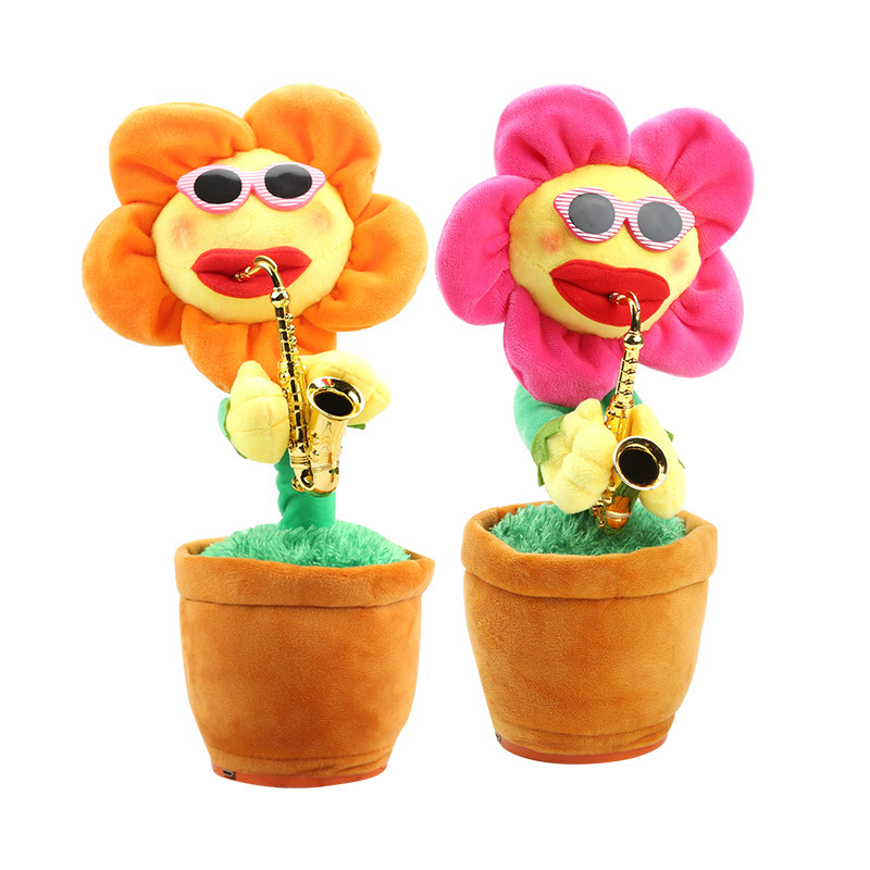 Enchanting Flower Sunflower Sunflower Flower Bluetooth Version Charging Dancing Plush New Creative Network Red Toy