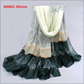 Pashmina Scarf Women 2016 New arrive Spain Voile Velvet Chiffon Scarf Winter Scarves Silk Shawls and Scarves W8001