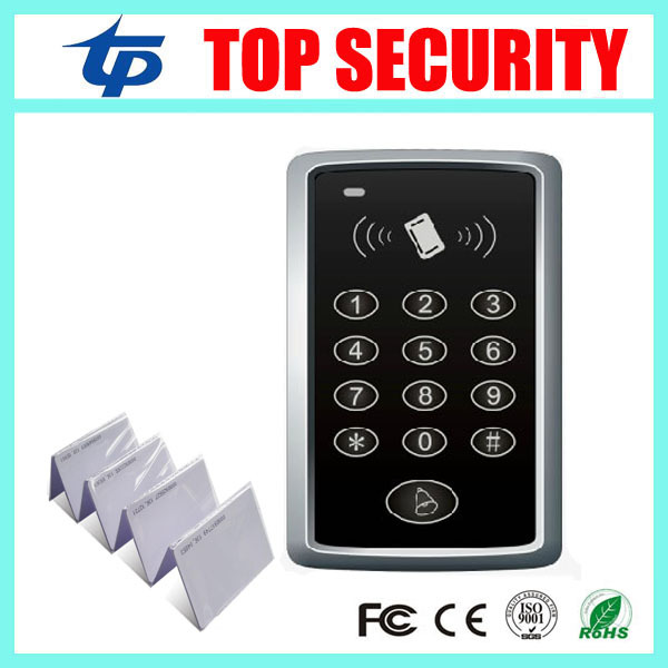 Card access control 1000 users single door standalone access control system with 10pcs RFID card metal rfid em card reader ip68 waterproof metal standalone door lock access control system with keypad 2000 card users capacity