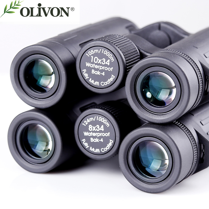 olivon five color bird binocular telescope of 8x34 10 34 series telescope suit for outdoor child