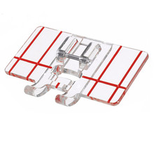 Piezas de máquina de coser doméstica accesorios de prensatelas pie guía de borde utilizado para AA7146-3 de máquina de coser de caña baja