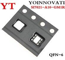 10ピース/ロットSI7021 A10 GM1R SI7021 A10 SI7021 icのtemp sensor rh 2% dfn最高品質。